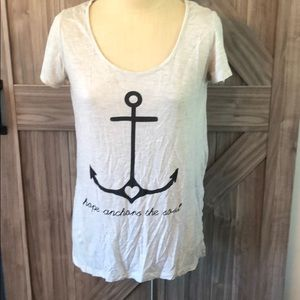 Maurice's Hope anchors the soul graphic knot tee